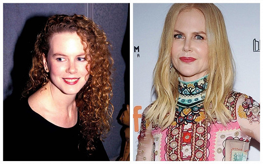 Nicole Kidman a její vždy perfektně vyžehlený obličej s plnými rty.