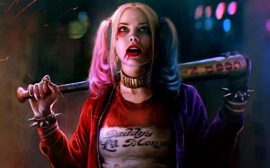 Herečka Margot Robbie coby Harley Quinn ve filmu Sebevražedný oddíl