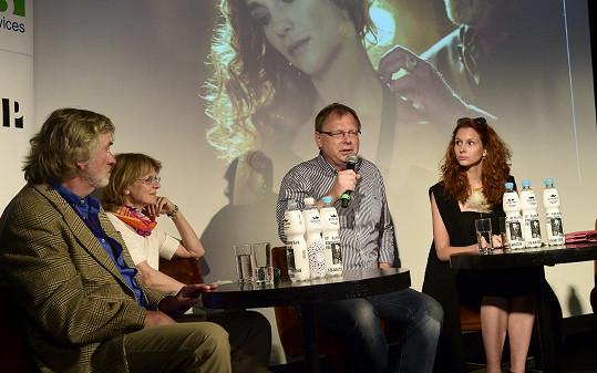 S filmovou delegací na karlovarském filmovém festivalu.