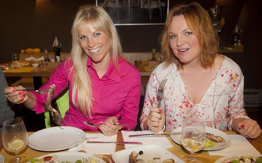 Kamila Špráchalová si se svojí nutriční poradkyní dopřála kvalitní oběd.