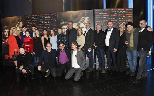 Celá delegace filmu Smečka