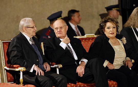 Jiří Suchý, Václav Bělohradský a Jiřina Bohdalová
