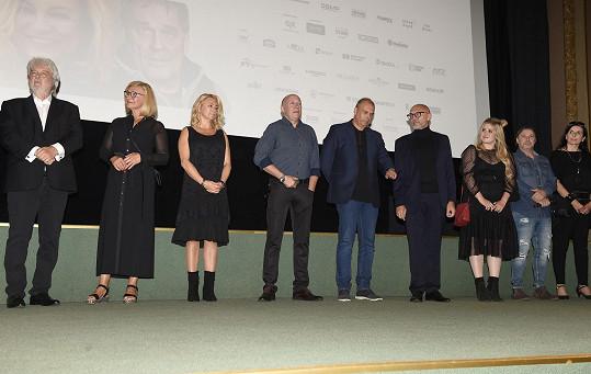 S kolegy při představování filmu v kině Lucerna