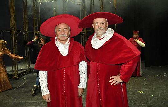 V představení se mohou diváci těšit i na Pavla Zedníčka (vlevo) a Richarda Tesaříka.