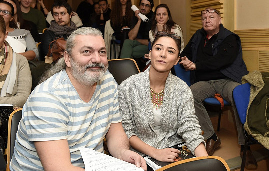 Dan s Evou Burešovou na zkoušce muzikálu Sibyla