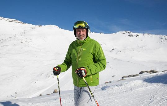 David Suchařípa je na lyžích jako doma.