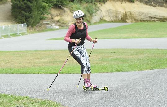 V areálu v Jablonci nad Nisou zavzpomínala, jak se sportem začínala.