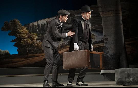 Ve Vinohradském divadle působí od roku 1966. Jako sluha Adam v Jak se vám líbí, jehož pánem je Marek Adamczyk.