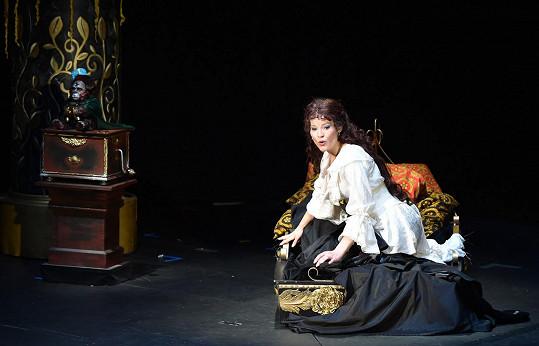 Jako Christine na premiéře Fantoma opery v září 2014