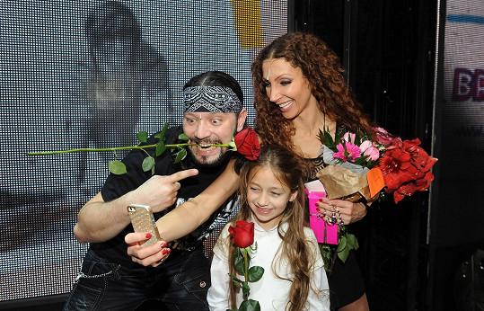 S kolegyněmi - Olgou Lounovou a Natálkou Grossovou.