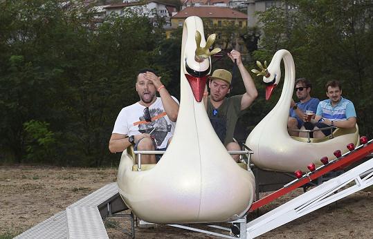 S Láďou Hruškou si dali jedno kolo na labuti.
