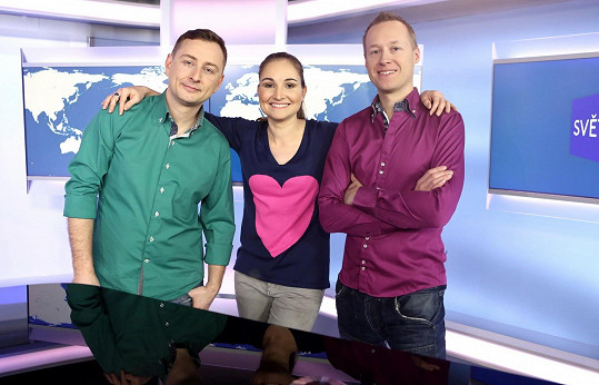 Jan Kudláček s kolegy Josefem Klugem a Annou Kadavou