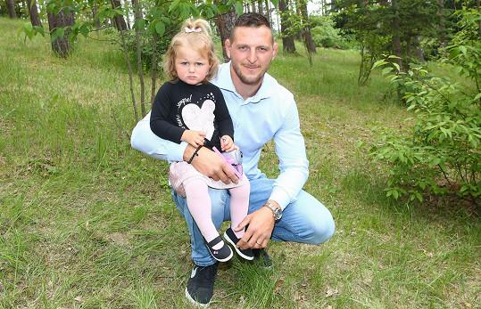 Lukáš Krpálek s dcerou Mariankou