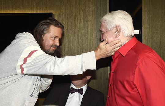 Herci udělalo velkou radost, že potkal Jiřího Krampola.
