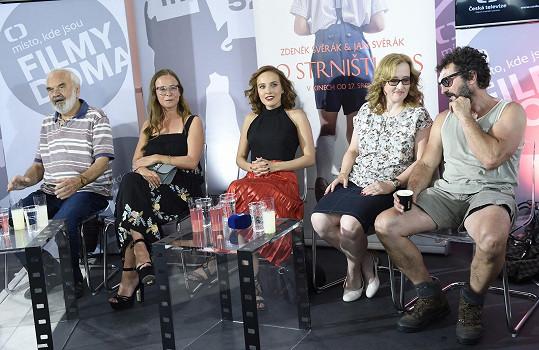 Na tiskové konferenci s Terezou Voříškovou a Zdeňkem Svěrákem