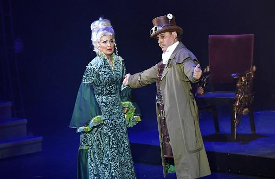 Madam Morrible Světlana Nálepková a čaroděj Marian Vojtko