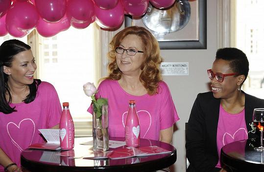 Ambasadorkou růžového pochodu je Stašová letos už potřetí.