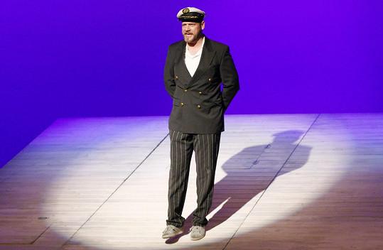 Filip během divadlení hry Titanic