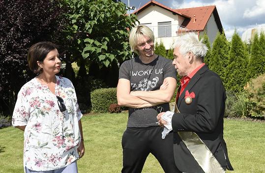 Michal s autorkou projektu Marií Trupiano a fotografem Janem Saudkem (vpravo)