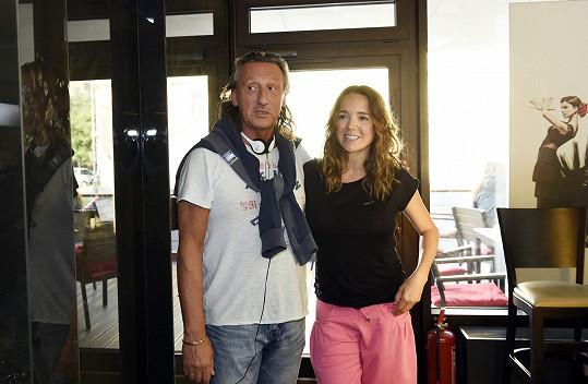 A s režisérem Mílou Halíkem.
