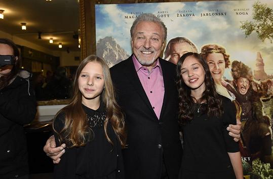 Karel Gott s dcerami Nelly a Charlotte