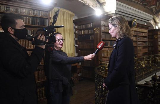Irena Maňáková při rozhovoru se Super.cz
