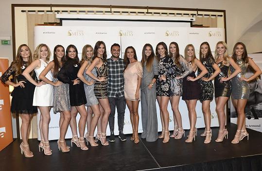 Silvia s finalistkami České Miss a Miss Universe Slovenska 2019. O tom, která se stane vítězkou, se rozhodne v neděli.