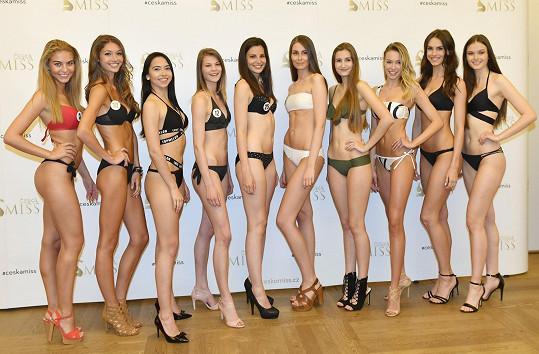 Těchto deset krásek postoupilo z pražského castingu do semifinále.