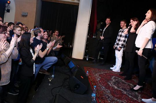 Norisová sklidila s kapelou Fragile velký potlesk.