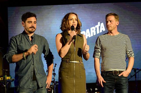 Markéta a její kolegové oficiálně představili seriál Mordparta na tiskové konferenci Primy.