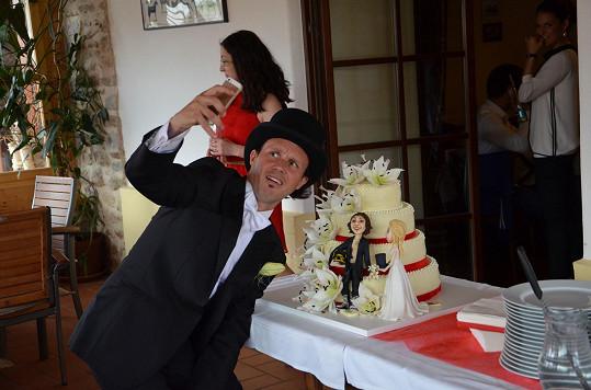 A tak svatební dort