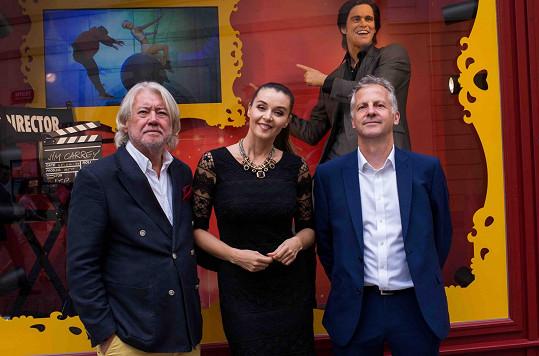 Kubelková moderovala otevření první české pobočky muzea voskových figurín Madame Tussauds.