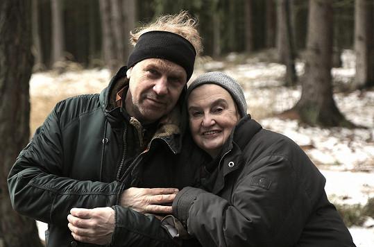 Herečka s režisérem filmu Tomášem Vorlem.