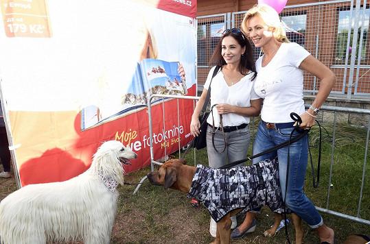 Kateřina s kolegyní Michaelou Kuklovou seznamovaly své psy.