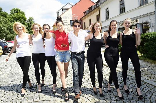 S Kateřinou jsme se potkali během kurzu modelek, kde účastnice zasvěcovala do tajů modelingu.