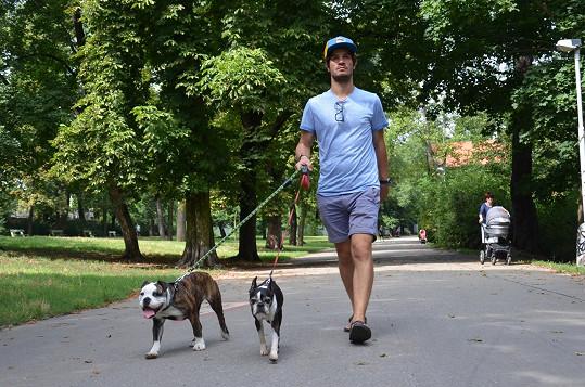 Takhle společně chodí na procházky.