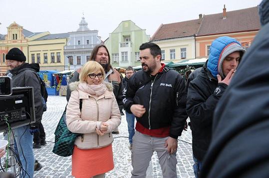 Natáčelo se i v Mělníku na náměstí.