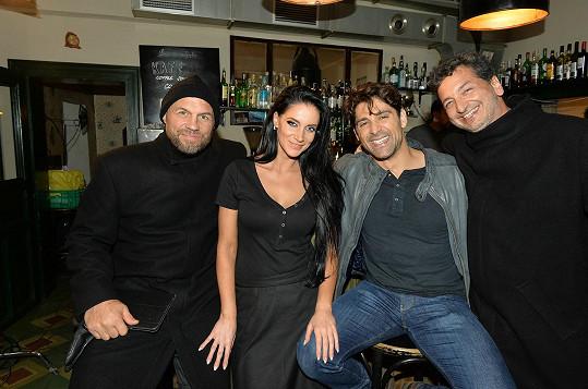Randy Couture, Andrea, Bren Foster a český producent Milan Friedrich