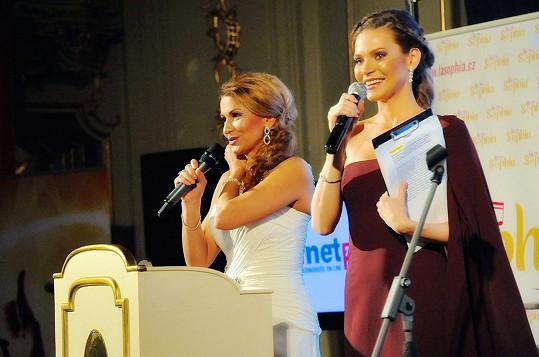 S Andreou Verešovou, která moderovala dobročinnou aukci.