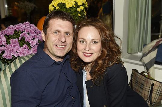 Markéta se snoubencem Petrem Syslem