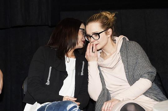 Kristýna s kolegyní a scenáristkou filmu Danielou Choděrovou.