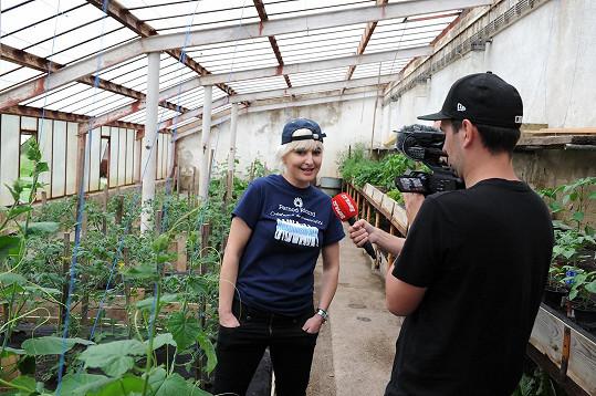 Zahradnice Nesvadbová během rozhovoru pro Super.cz