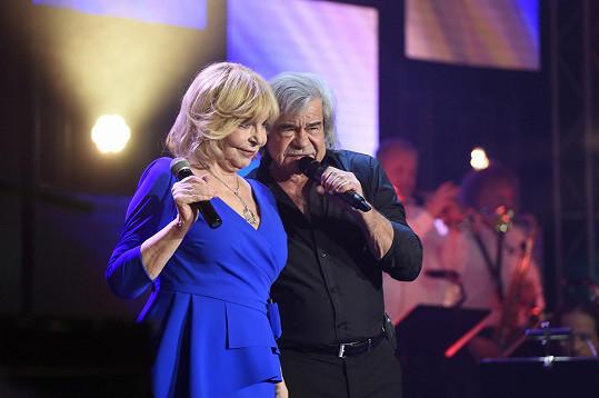 Hana Zagorová a Petr Rezek si spolu zazpívali duet.