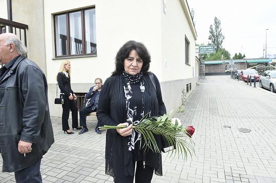 Rozloučit se přišla i zpěvačka Milena Soukupová.