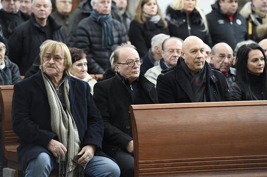 Loučili se také Karel Vágner, Petr Janda a Oldřich Lomecký s partnerkou.