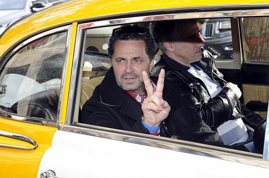 Martin v policejním voze