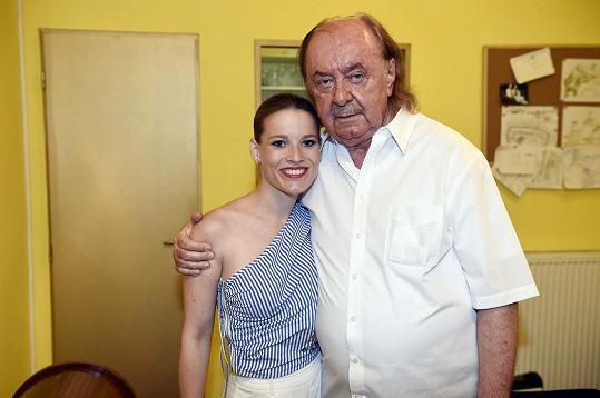 Michaela s producentem Plesu upírů Františkem Janečkem