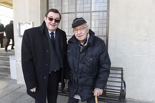 S generačním souputníkem se přišel rozloučit i zpěvák Josef Zíma.