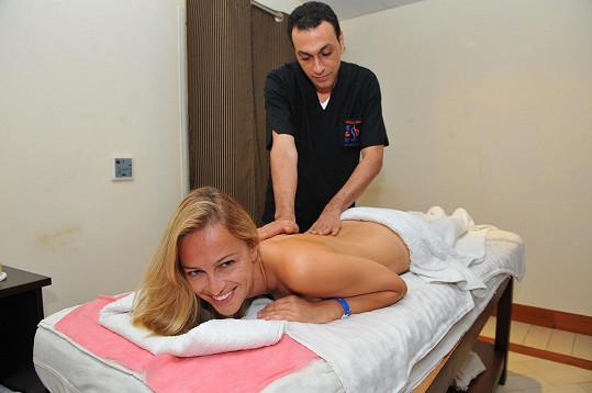 Renata si v Egyptě dopřála aroma masáž.