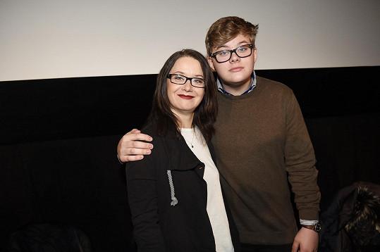 Daniela Choděrová se synem